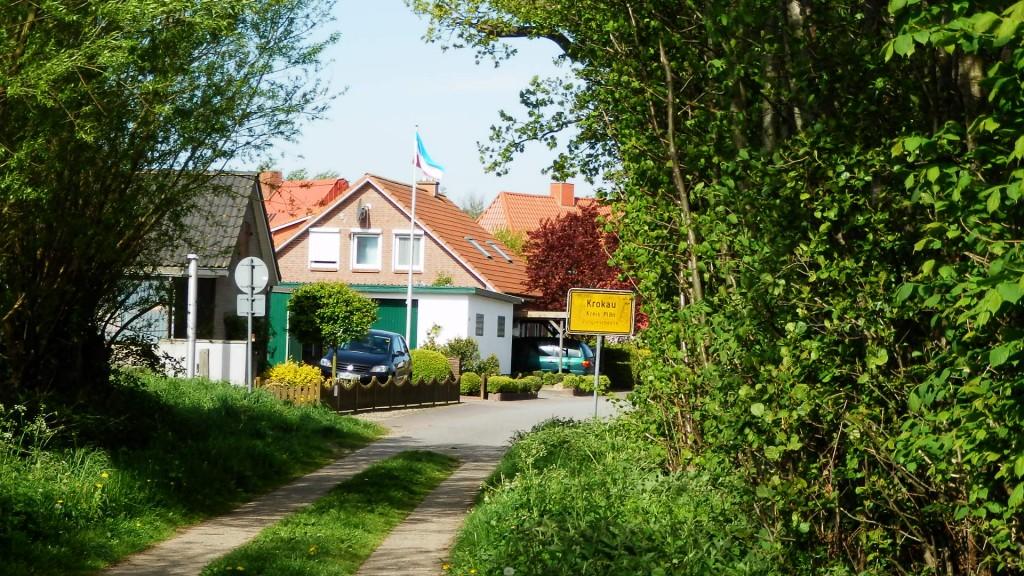 Ortseingang Krokau Feldweg