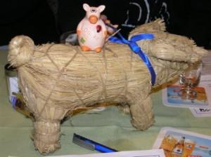 Stroh Schwein